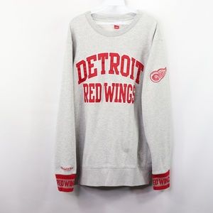 Mitchell & Ness Detroit Red Wings Sweatshirt Gray
